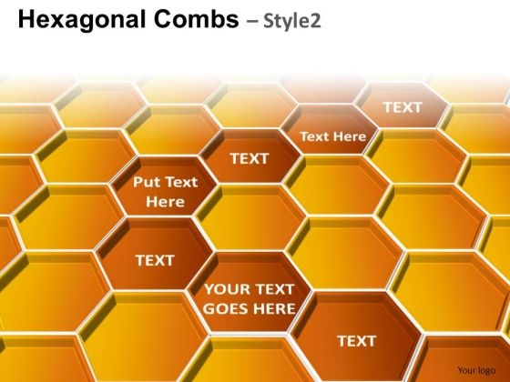 PowerPoint Design Hexagonal Combs Process Ppt Layouts