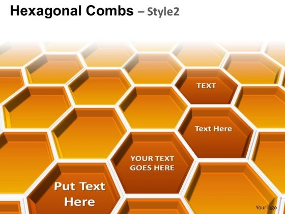 PowerPoint Design Hexagonal Combs Teamwork Ppt Slides