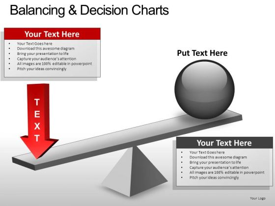 PowerPoint Design Image Balancing Decision Ppt Slide