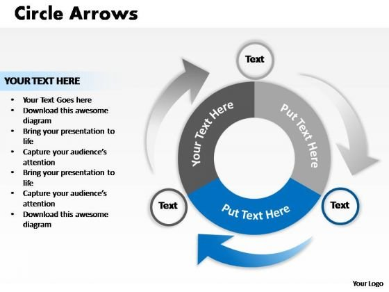 PowerPoint Design Image Circle Process Ppt Template