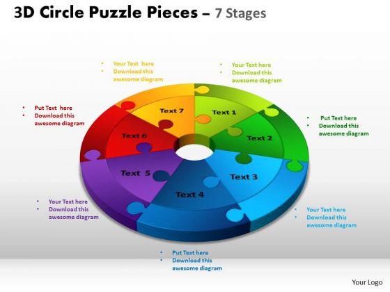 PowerPoint Design Image Circle Puzzle Ppt Slides