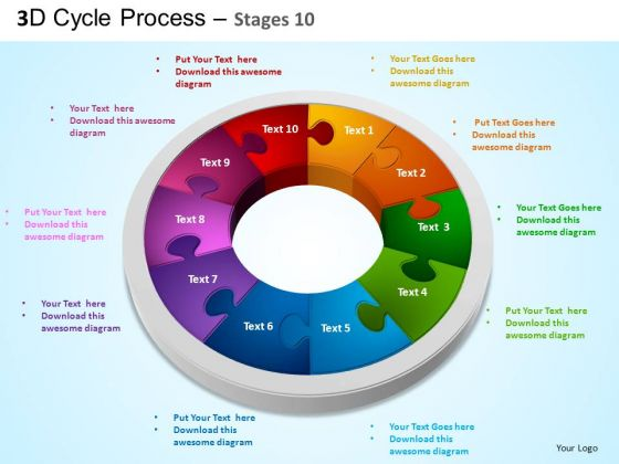 PowerPoint Design Image Cycle Process Flow Ppt Template