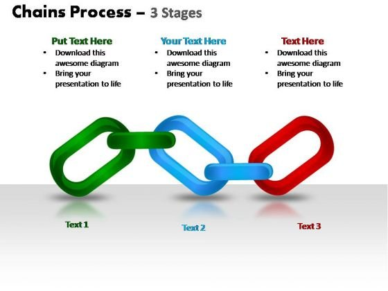 PowerPoint Design Leadership Chains Process Ppt Slide