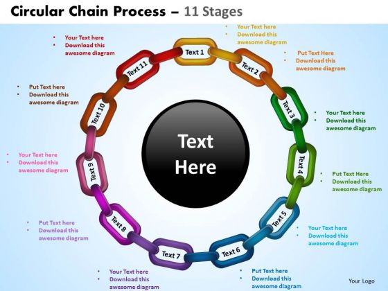 PowerPoint Design Leadership Circular Chain Ppt Design