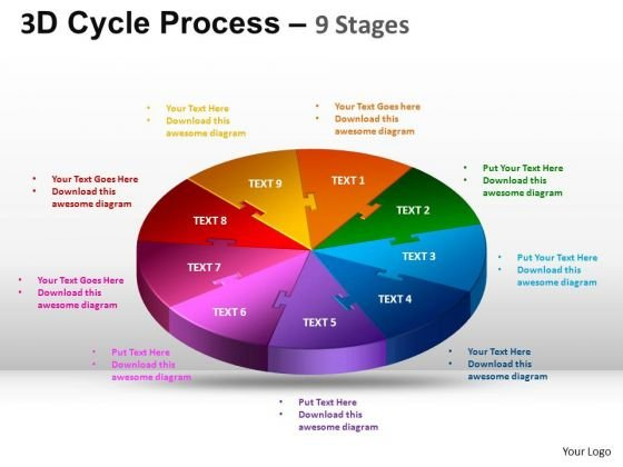 PowerPoint Design Leadership Cycle Process Ppt Layouts
