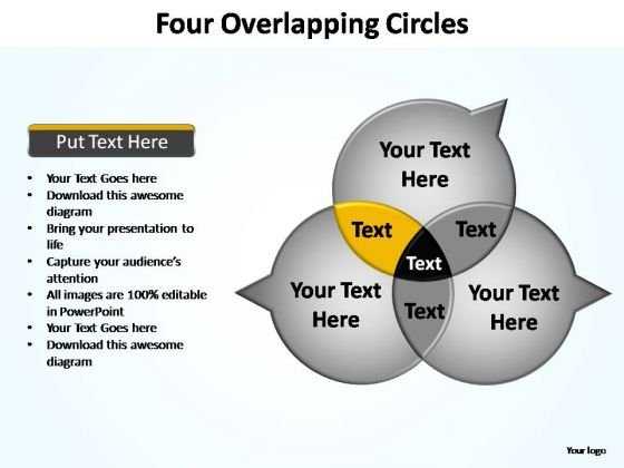 PowerPoint Design Leadership Four Overlapping Ppt Theme