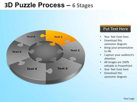 PowerPoint Design Leadership Jigsaw Pie Chart Ppt Design