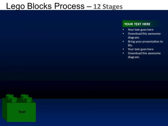 PowerPoint Design Leadership Lego Blocks Ppt Layout