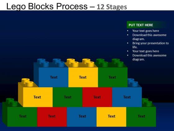 PowerPoint Design Leadership Lego Blocks Ppt Theme