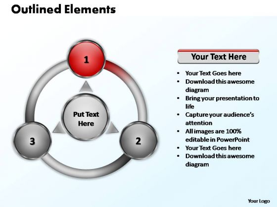 PowerPoint Design Leadership Outlined Elements Ppt Presentation