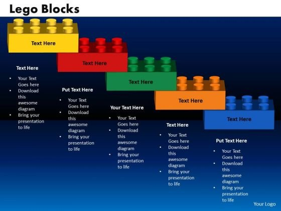 PowerPoint Design Lego Blocks Games Ppt Templates