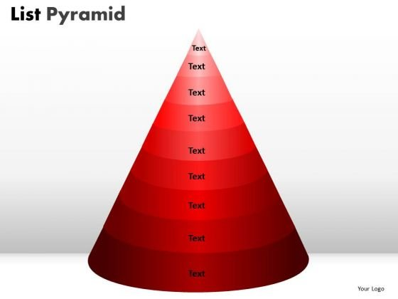 PowerPoint Design List Pyramid Finance Ppt Template