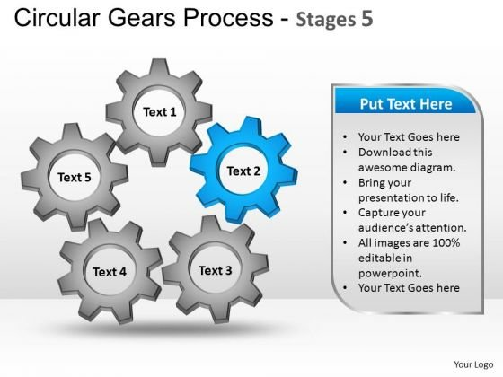 PowerPoint Design Marketing Circular Gears Ppt Themes
