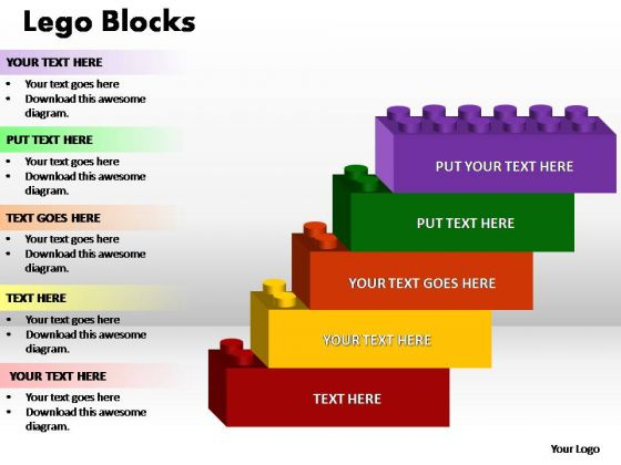 PowerPoint Design Marketing Lego Ppt Templates