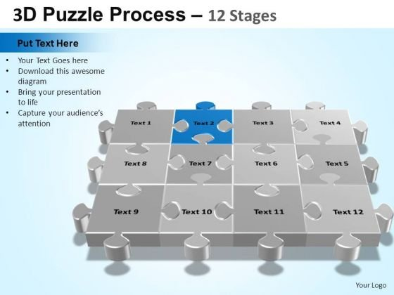 PowerPoint Design Marketing Puzzle Process Ppt Backgrounds