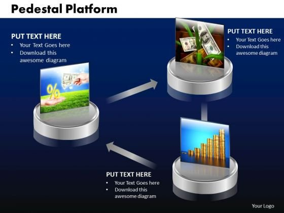 PowerPoint Design Pedestal Platform Marketing Ppt Design Slides