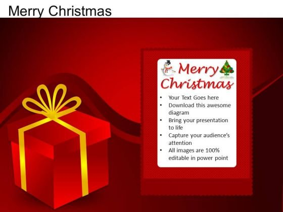 PowerPoint Design Presents Merry Christmas Ppt Backgrounds