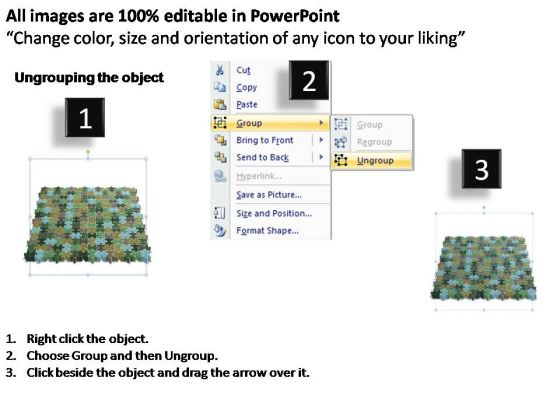 Powerpoint Design Process 14x14 Rectangular Jigsaw Puzzle Matrix Ppt Slide Powerpoint Templates