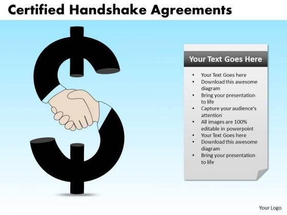 PowerPoint Design Process Certified Handshake Ppt Theme