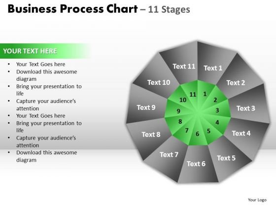 PowerPoint Design Process Circular Quadrant Ppt Slides