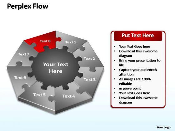 PowerPoint Design Process Perplex Flow Ppt Slides