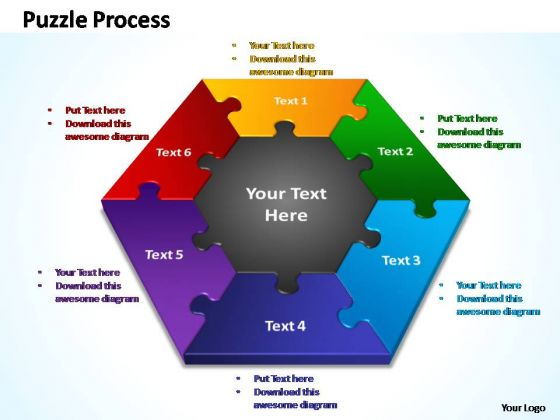 PowerPoint Design Process Puzzle Process Ppt Themes