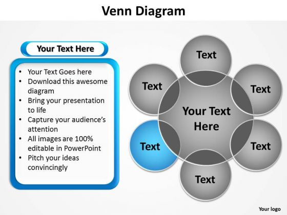 PowerPoint Design Process Venn Diagram Ppt Themes