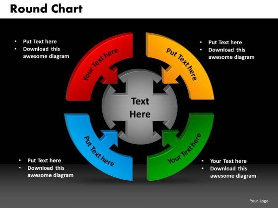 PowerPoint Design Round Chart Leadership Ppt Process