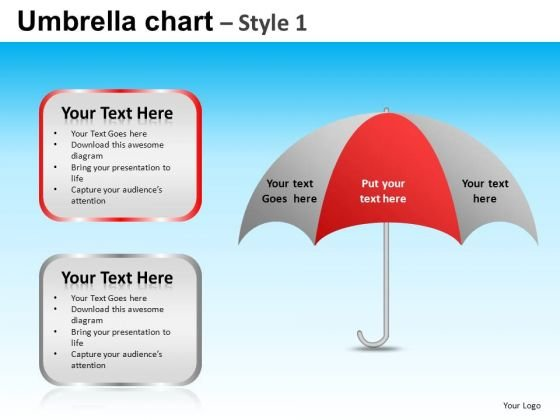 PowerPoint Design Slides Business Competition Umbrella Chart Ppt Presentation Designs