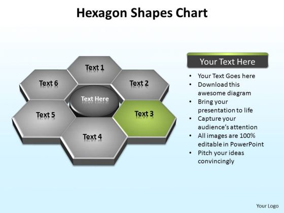 PowerPoint Design Slides Business Hexagon Shapes Ppt Backgrounds