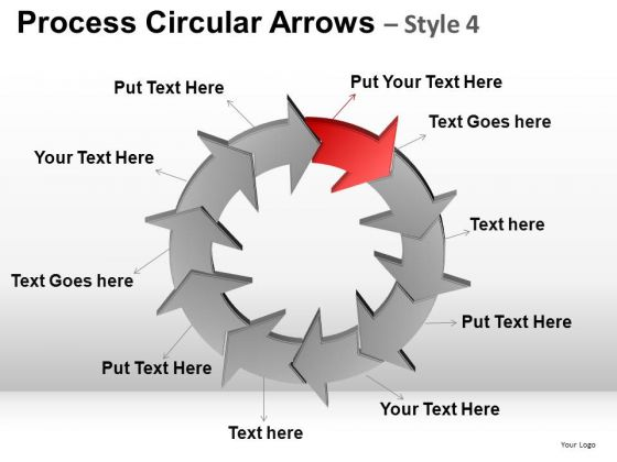PowerPoint Design Slides Business Leadership Process Circular Arrows Ppt Layouts