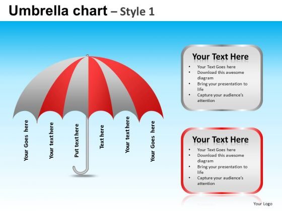 PowerPoint Design Slides Business Strategy Targets Umbrella Chart Ppt Slide