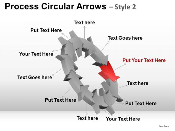 PowerPoint Design Slides Business Success Process Circular Arrows Ppt Slides