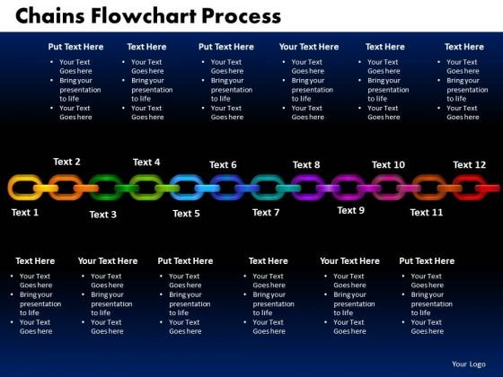 PowerPoint Design Slides Chains Flowchart Process Sales Ppt Themes