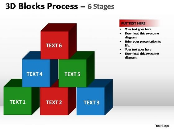PowerPoint Design Slides Chart Blocks Process Ppt Design