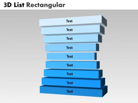PowerPoint Design Slides Chart Bulleted List Rectangular Ppt Template