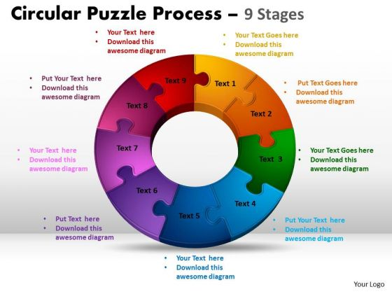 PowerPoint Design Slides Chart Circular Puzzle Ppt Slides