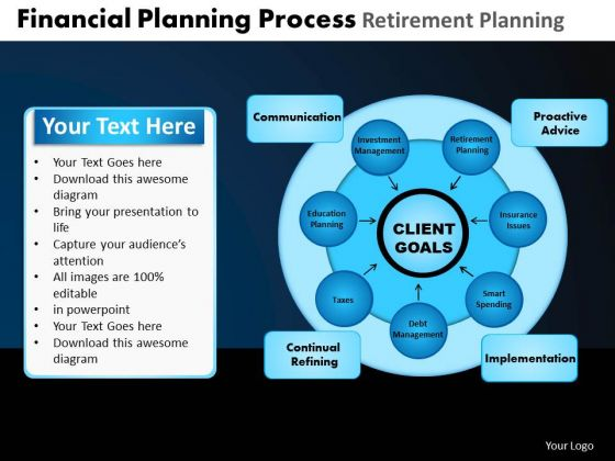 PowerPoint Design Slides Chart Financial Planning Ppt Template