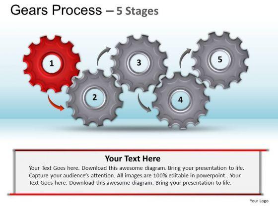 PowerPoint Design Slides Chart Gears Process Ppt Template
