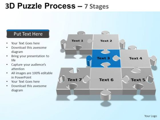 PowerPoint Design Slides Chart Puzzle Process Ppt Backgrounds