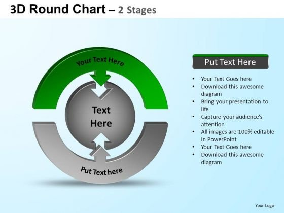 PowerPoint Design Slides Chart Round Process Flow Chart Ppt Presentation