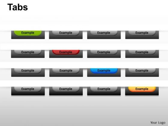 PowerPoint Design Slides Chart Tabs Ppt Backgrounds