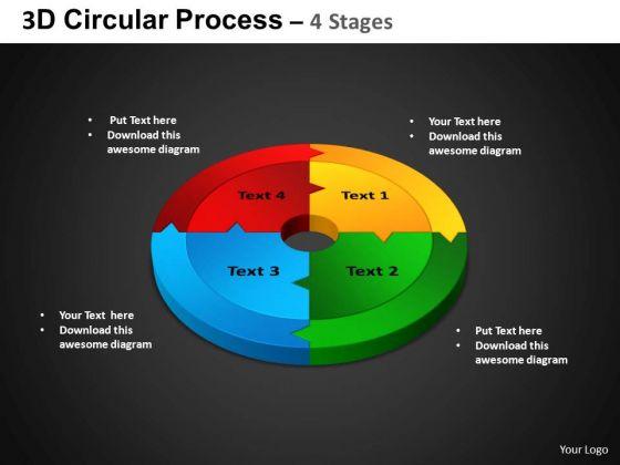 PowerPoint Design Slides Circle Chart Circular Process Ppt Slide