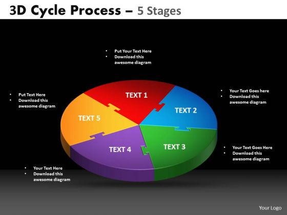 PowerPoint Design Slides Circular Chart Cycle Process Ppt Theme