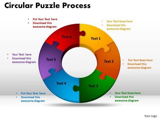 PowerPoint Design Slides Circular Puzzle Process Sales Ppt Theme