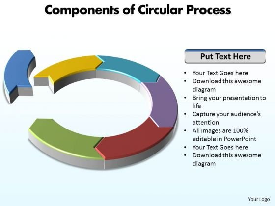 PowerPoint Design Slides Company Circular Process Ppt Presentation