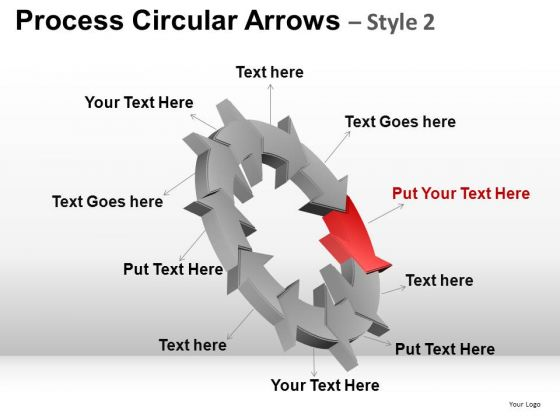 PowerPoint Design Slides Company Designs Process Circular Arrows Ppt Templates
