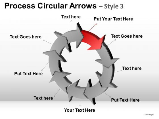 PowerPoint Design Slides Company Designs Process Circular Arrows Ppt Themes
