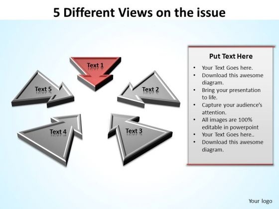 PowerPoint Design Slides Company Different Views Ppt Backgrounds