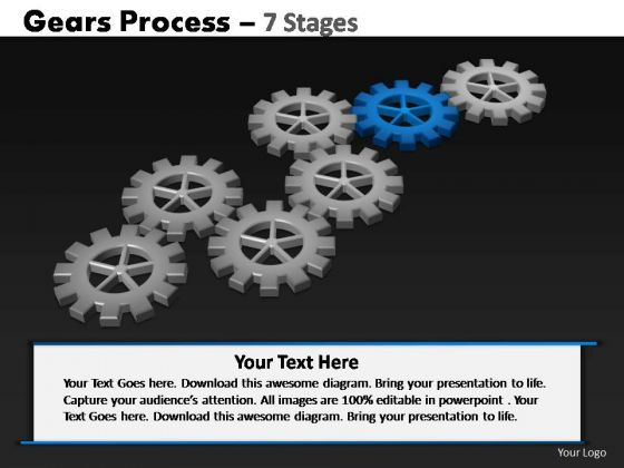 PowerPoint Design Slides Company Gears Process Ppt Backgrounds